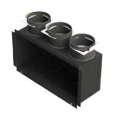 Difuzorinė grotelių dežutė montavimui prie gipso plokštės Brofer H 250-100 2x75 Brofer PVMPB200x100