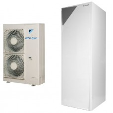 Daikin Altherma ERLQ014CW1+EHVX16S26CB9W 14,5 kW, su vėsinimo funkcija, su 260l karšto vandens talpa be valdymo pulto, 9kW tenu, 400/400V.