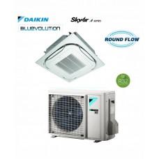 Šilumos siurblys DAIKIN SPLIT INVERTER kasetinis ROUND FLOW SkyAir Alpha-series FCAG60B+RZAG60A Šildymo galia 6,0kW, Šaldymo 6,0 kW Freonas R32 oro kondicionierius
