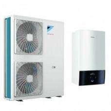 Daikin Altherma 3 EABX16D6V+EPGA14DV 14,55 kW be vandens talpos, su vėsinimo funkcija, 6kW tenu, 230V BALTAS