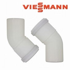 Dūmtraukio alkūnė dviguba 45 laips. (2vnt.) DN 110/150 Viessmann 7247549