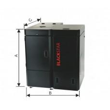 Granulinis katilas OPOP Black Star Comfort-Kompakt 20 kW be automatinio šilumokaičio valymo