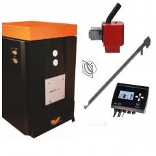 Granulinis katilas OPOP H420 EKO (3-17kW) su NBE-16 (17,2kW) granulių degikliu , 2m granulių tiektuvu (be granulių talpos)