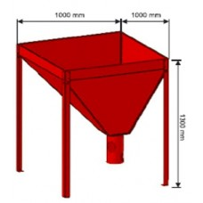 Granulių talpa 1000x1000 320 kg.