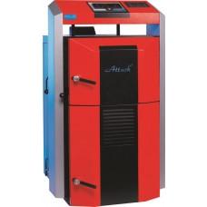 Kieto kuro katilas ATTACK 35 DP PROFI su plokšteliniu šilumokaičiu ir elektroniniu valdymu,  14-35 kW galios