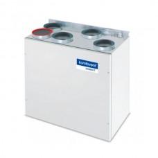 Rekuperatorius Komfovent Domekt-R-200-V-HE, automatika C4, dešininis, su pašildymu, be valdymo pulto, Vertikalus