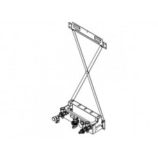Pagalbinis montavimo įtaisas montavimui ant tinko su pakabinimo kryžmės Viessmann Vitodens 200-w katilams ZK04919