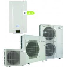 Šilumos siurblys oras-vanduo BAXI PBS-i 11 MR E 11 kW, inverterinis su 6 kW tenu su vėsinimu 230/400 V 7213853