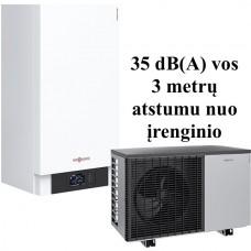 Šilumos siurblys oras - vanduo Viessman Vitocal 200-S (Z015210) AWB-M-E 201.D04 be karšto vandens talpos be vesinimo funkcijos  4 kW 230/400V su 9 kW tenu