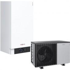 Šilumos siurblys oras - vanduo Viessman Vitocal 200-S (Z015222) AWB-M-E-AC 201.D10 be karšto vandens talpos su vesinimo funkcija 10 kW 230/400V su 9 kW tenu