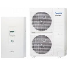 Šilumos siurblys oras - vanduo PANASONIC Aquarea H GENERATION BI-BLOC HP KIT-WC12H9E8 12,0/10,0 kW, be karsto vandens talpa, su vėsinimo funkcija, 9kW tenu 400/400v