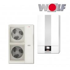 Šilumos siurblys  oras-vanduo WOLF BWL-1S-10 10,2 kW be vandens talpos, su vėsinimo funkcija, su 9 kW tenu, 400V